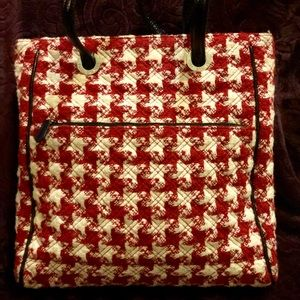 Red and white purse/bag